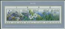 NZ SGMS1547 New Zealand Orchids miniature sheet